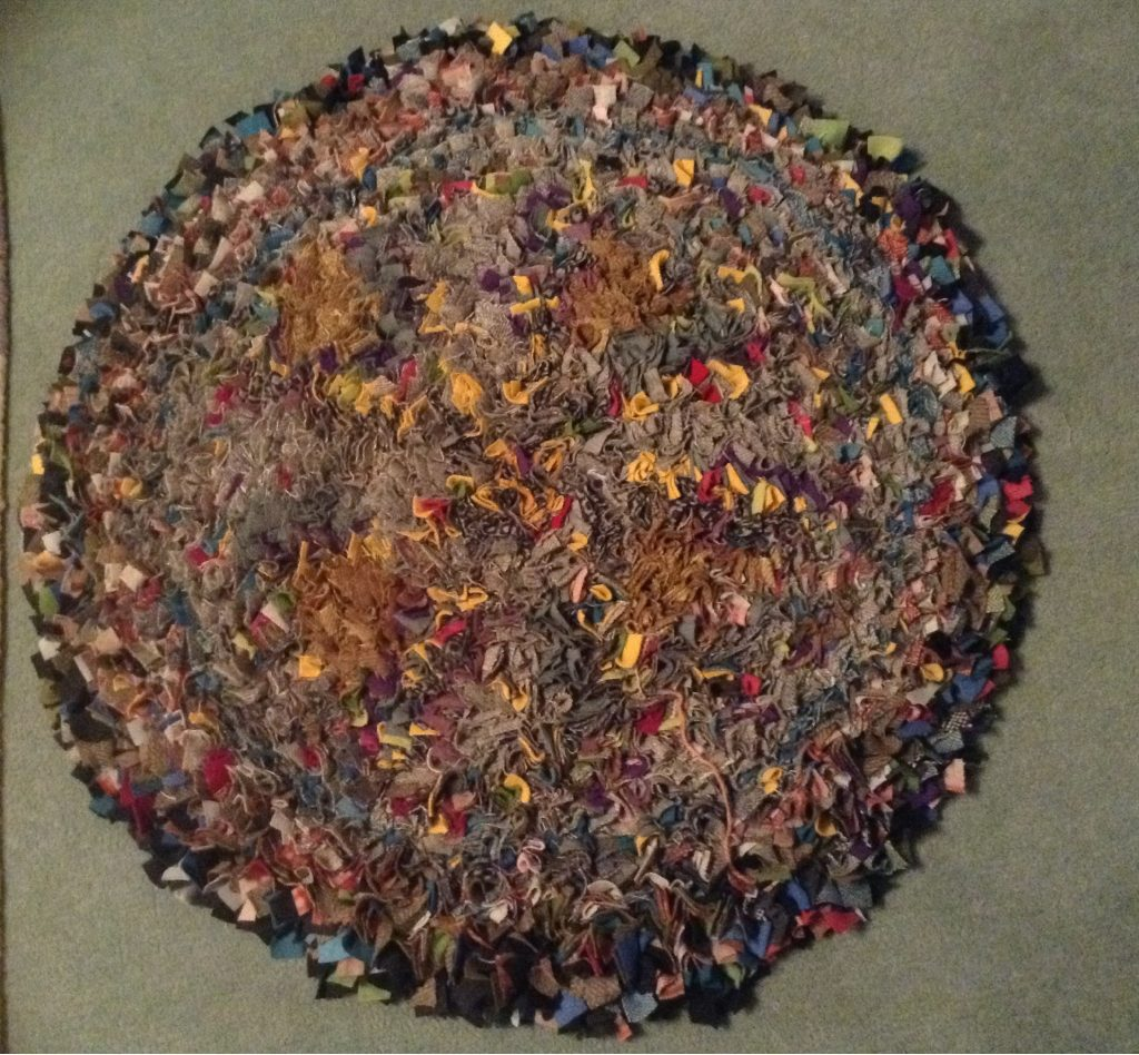 How To Make A Braided Rag Rug From Fabric Ss